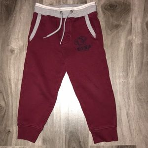 Baby gap maroon & gray sweatpants for boys